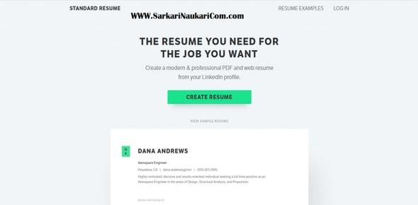 resume maker for students